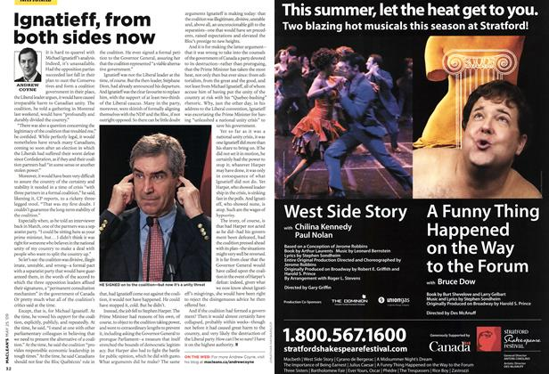 Article Preview: Ignatieff, from both sides now, MAY 25th 2009 2009 | Maclean's