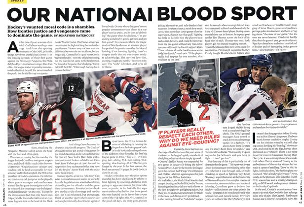 Article Preview: OUR NATIONAL BLOOD SPORT, MAY 25th 2009 2009 | Maclean's