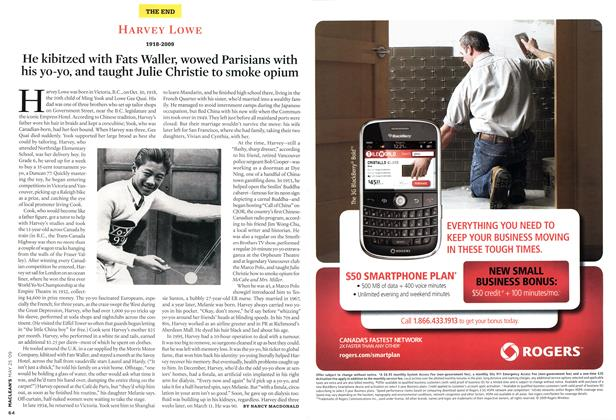Article Preview: HARVEY LOWE 1918-2009, MAY 25th 2009 2009 | Maclean's