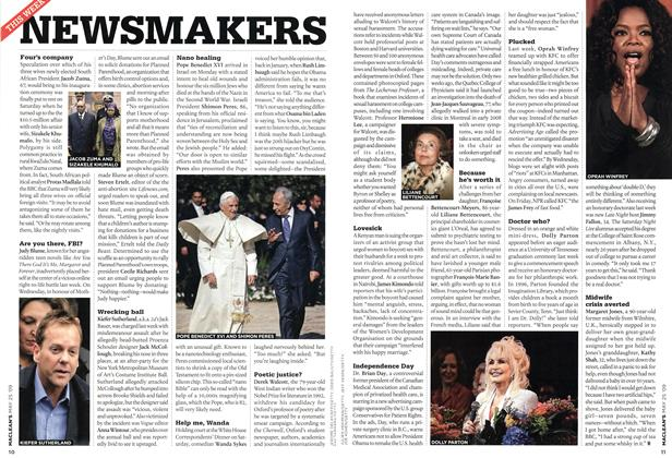 Article Preview: NEWSMAKERS, MAY 25th 2009 2009 | Maclean's
