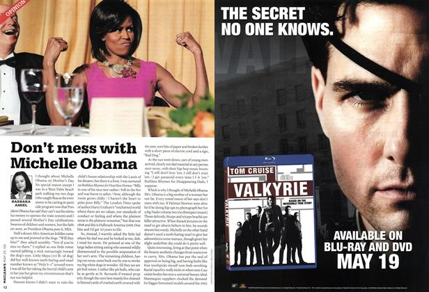 Article Preview: Don't mess with Michelle Obama, MAY 25th 2009 2009 | Maclean's