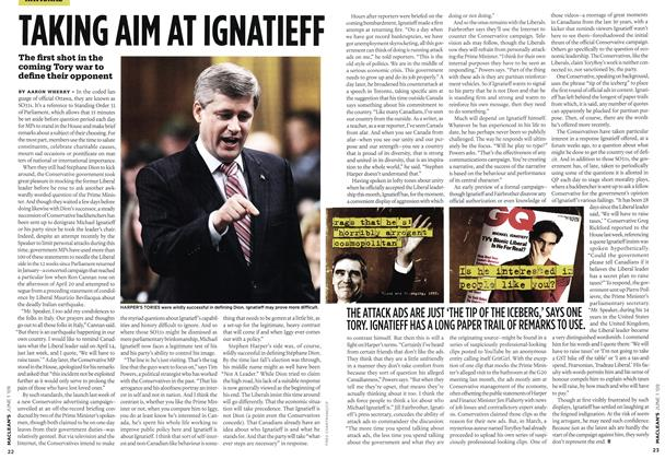 Article Preview: TAKING AIN AT IGNATIEFF, JUNE 1st 2009 2009 | Maclean's