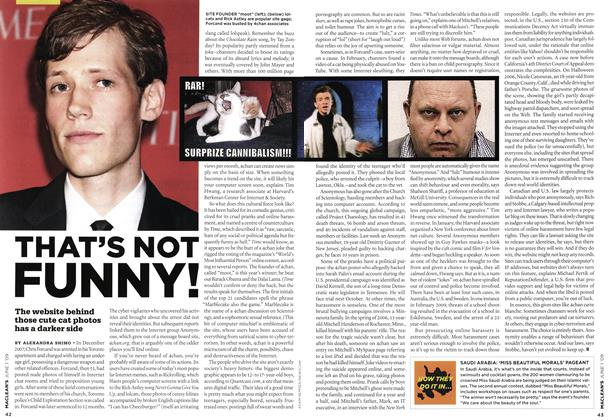 Article Preview: THAT'S NOT FUNNY!, JUNE 1st 2009 2009 | Maclean's