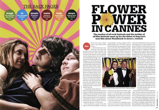 Article Preview: FLOWER POWER IN CANNES, JUNE 1st 2009 2009 | Maclean's