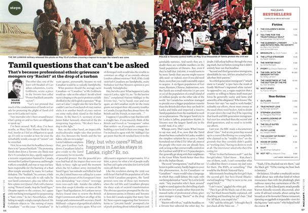 Article Preview: Tamil questions that can't be asked, JUNE 1st 2009 2009 | Maclean's