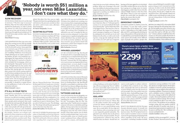 Article Preview: 'Nobody is worth $51 million a year, not even Mike Lazaridis. I don't care what they do.', JUNE 1st 2009 2009 | Maclean's