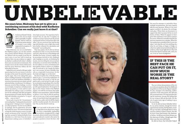 Article Preview: UNBELI EVABLE, JUNE 8th 2009 2009 | Maclean's