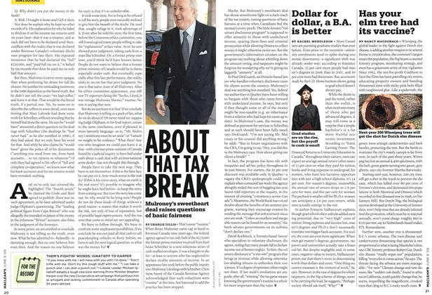 Article Preview: ABOUT THAT TAX BREAK, JUNE 8th 2009 2009 | Maclean's