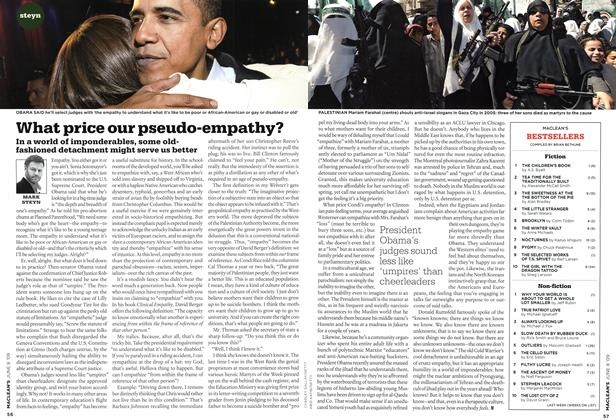 Article Preview: What price our pseudo-empathy?, JUNE 8th 2009 2009 | Maclean's