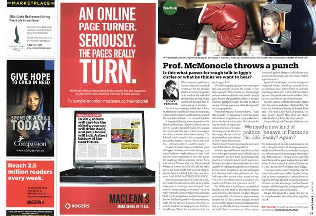 Article Preview: Prof. McMonocle throws a punch, JUNE 8th 2009 2009 | Maclean's