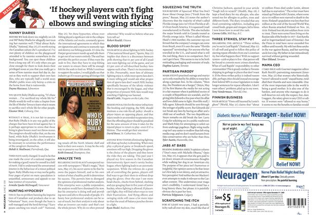 Article Preview: 'If hockey players can't fight they will vent with flying elbows and swinging sticks', JUNE 8th 2009 2009 | Maclean's