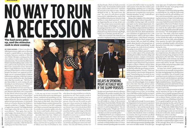 Article Preview: NO WAY TO RUN A RECESSION, JUNE 15th 2009 2009 | Maclean's