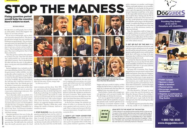 Article Preview: STOP THE MADNESS, JUNE 15th 2009 2009 | Maclean's
