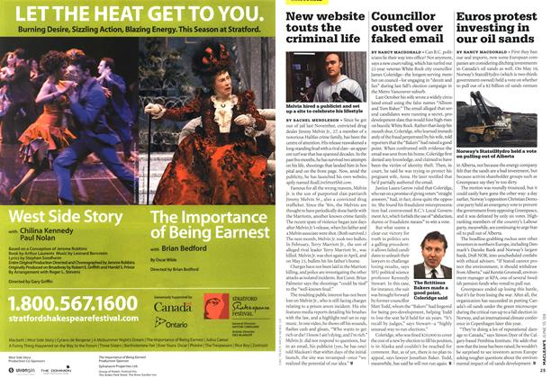 Article Preview: Councillor ousted over faked email, JUNE 15th 2009 2009 | Maclean's