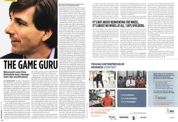 Article Preview: THE GAME GURU, JUNE 15th 2009 2009 | Maclean's