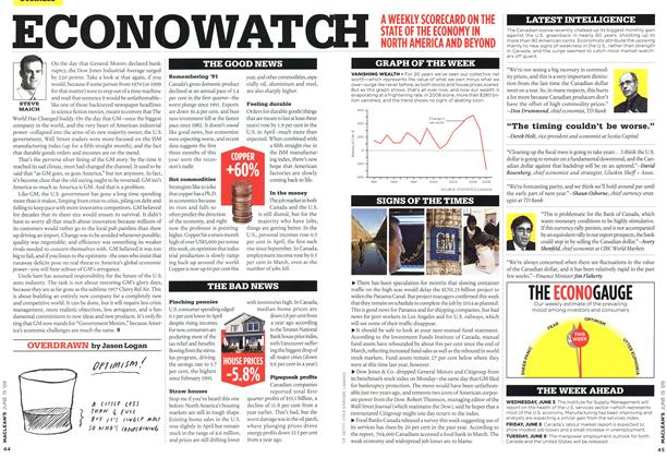 Article Preview: ECONOWATCH, JUNE 15th 2009 2009 | Maclean's