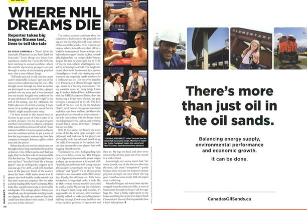 Article Preview: WHERE NHL DREAMS DIE, JUNE 15th 2009 2009 | Maclean's