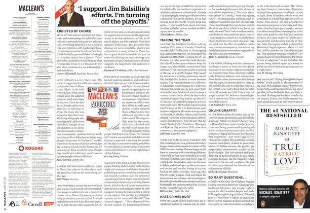 Article Preview: 'I support Jim Balsillie's efforts. I'm turning off the playoffs.', JUNE 15th 2009 2009 | Maclean's
