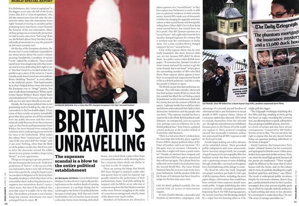 Article Preview: BRITAIN'S BRITAIN'S UNRAVELLING, JUNE 22nd 2009 2009 | Maclean's