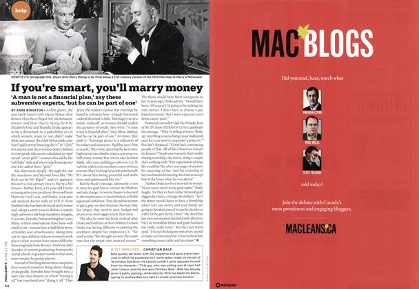 Article Preview: If you're smart, you'll marry money, JUNE 22nd 2009 2009 | Maclean's