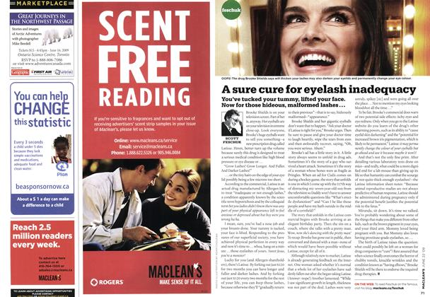 Article Preview: A sure cure for eyelash inadequacy, JUNE 22nd 2009 2009 | Maclean's