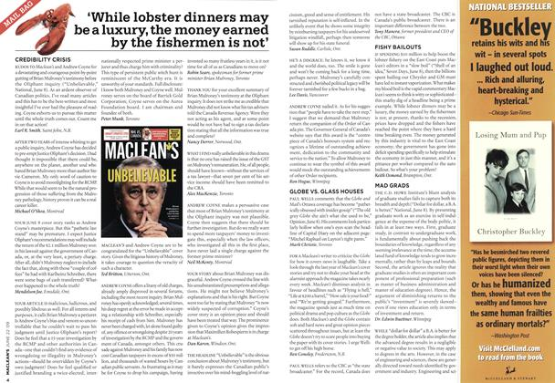 Article Preview: 'While lobster dinners may be a luxury, the money earned by the fishermen is not', JUNE 22nd 2009 2009 | Maclean's