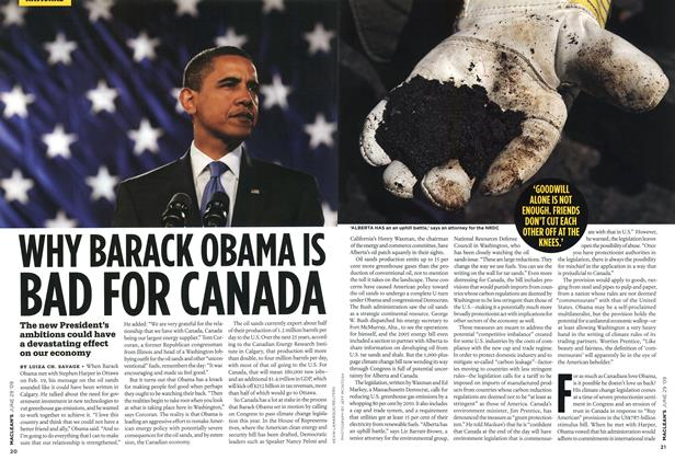 Article Preview: WHY BARACK OBAMA IS BAD FOR CANADA, JUNE 29th 2009 2009 | Maclean's