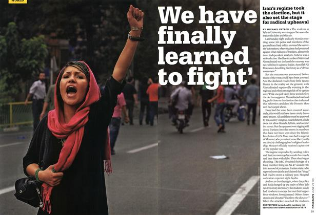 Article Preview: We have finally learned to fight', JUNE 29th 2009 2009 | Maclean's
