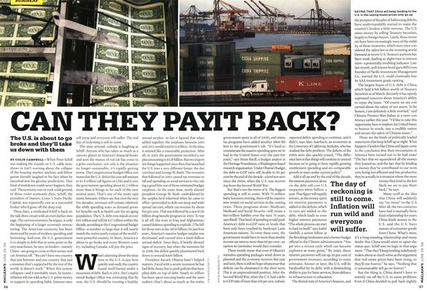 Article Preview: CAN THEY PAY IT BACK?, JUNE 29th 2009 2009 | Maclean's