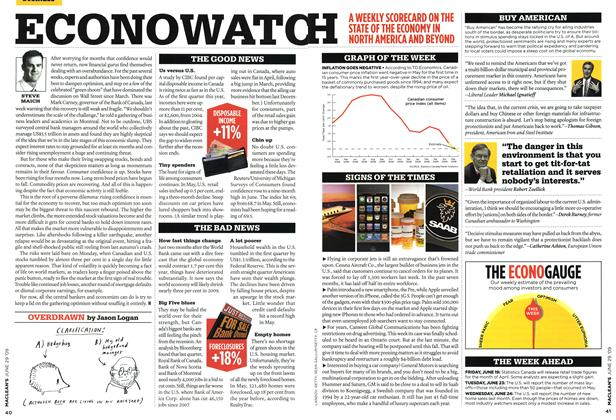 Article Preview: ECONOWATCH, JUNE 29th 2009 2009 | Maclean's