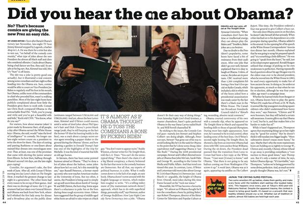 Article Preview: Did you hear the one about Obama?, JUNE 29th 2009 2009 | Maclean's