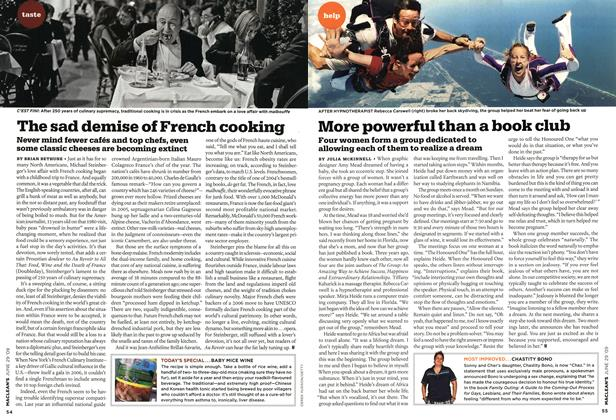 Article Preview: The sad demise of French cooking, JUNE 29th 2009 2009 | Maclean's