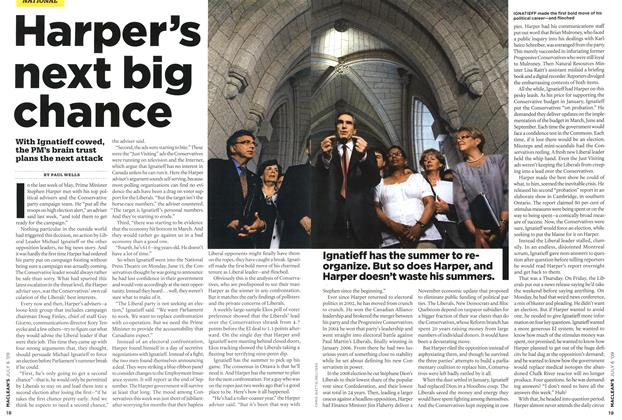 Article Preview: Harper's next big chance, JULY 6th 2009 2009 | Maclean's