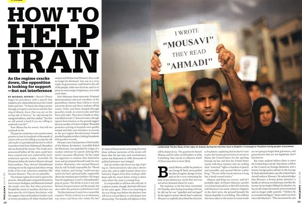 Article Preview: HOW TO HELP IRAN, JULY 6th 2009 2009 | Maclean's