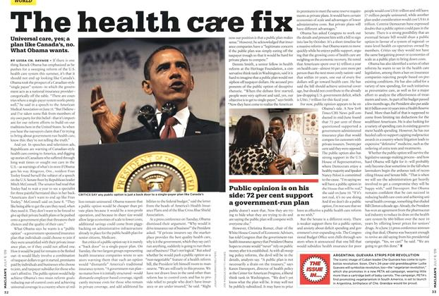 Article Preview: The health care fix, JULY 6th 2009 2009 | Maclean's