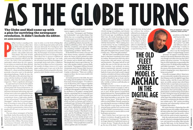 Article Preview: AS THE GLOBE TURNS, JULY 6th 2009 2009 | Maclean's