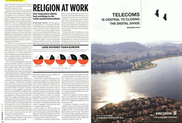 Article Preview: RELIGION AT WORK, JULY 6th 2009 2009 | Maclean's