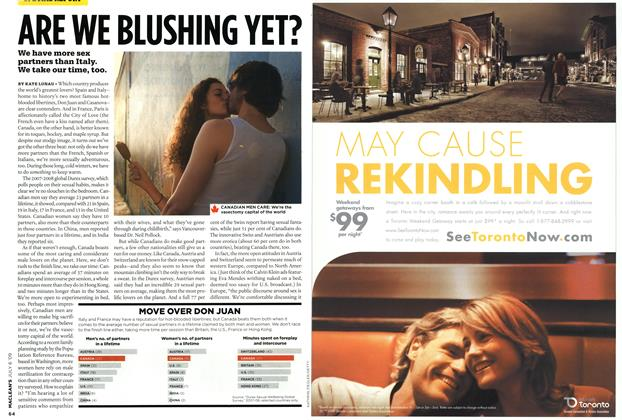 Article Preview: ARE WE BLUSHING YET?, JULY 6th 2009 2009 | Maclean's