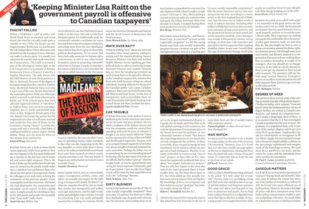 Article Preview: MAIL BAG, JULY 6th 2009 2009 | Maclean's