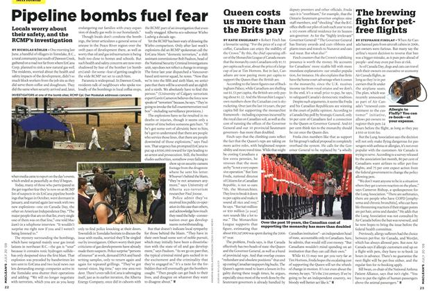 Article Preview: Pipeline bombs fuel fear, JULY 20th 2009 2009 | Maclean's