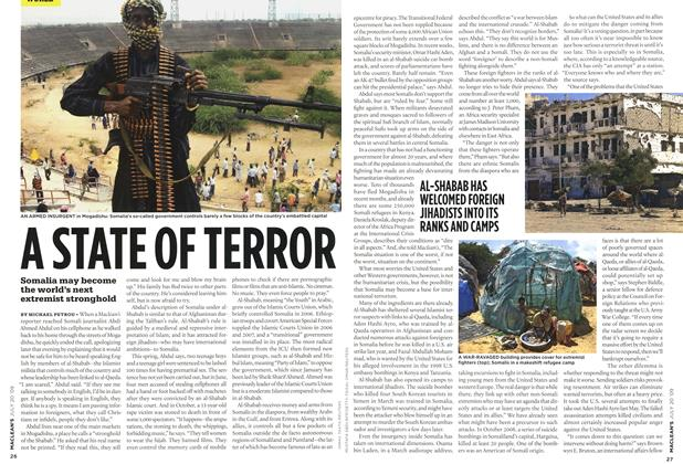 Article Preview: A STATE OF TERROR, JULY 20th 2009 2009 | Maclean's