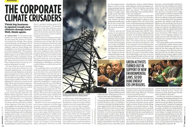 Article Preview: THE CORPORATE CLIMATE CRUSADERS, JULY 20th 2009 2009 | Maclean's