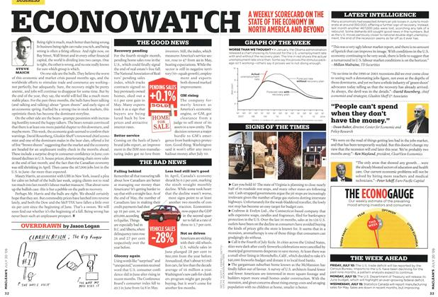 Article Preview: ECONOWATCH, JULY 20th 2009 2009 | Maclean's