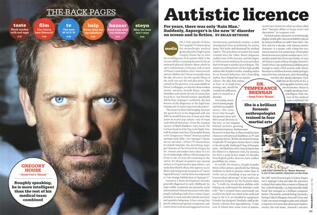Article Preview: Autistic licence, JULY 20th 2009 2009 | Maclean's