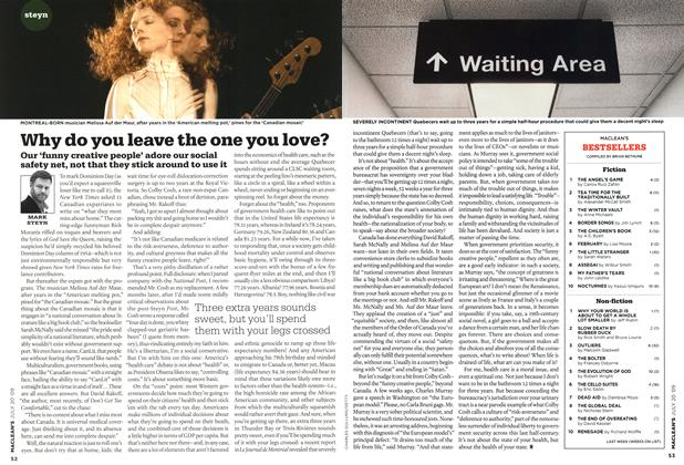 Article Preview: Why do you leave the one you love?, JULY 20th 2009 2009 | Maclean's