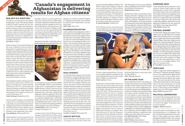 Article Preview: 'Canada's engagement in Afghanistan is delivering results for Afghan citizens', JULY 20th 2009 2009 | Maclean's