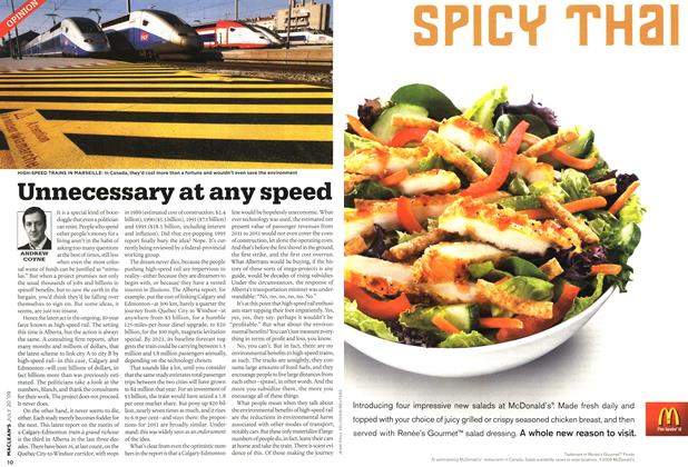 Article Preview: Unnecessary at any speed, JULY 20th 2009 2009 | Maclean's