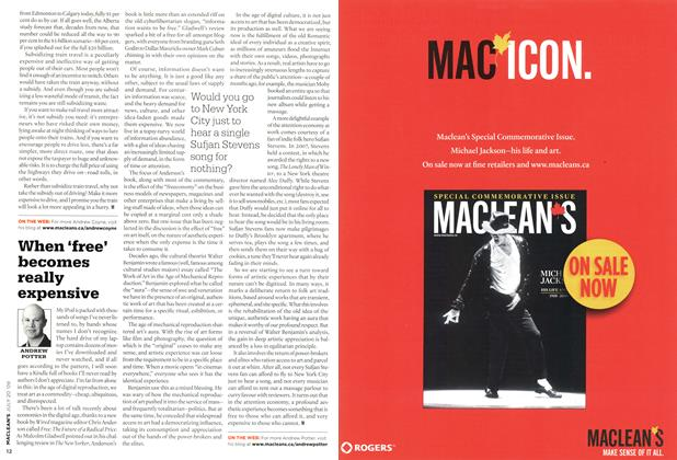 Article Preview: When 'free' becomes really expensive, JULY 20th 2009 2009 | Maclean's
