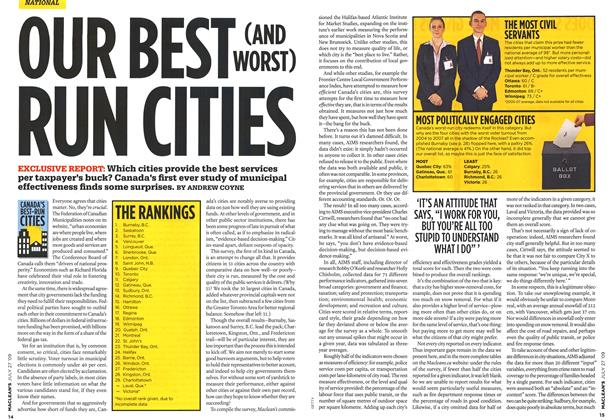 Article Preview: OUR BEST (AND WORST) RUN CITIES, JULY 27th 2009 2009 | Maclean's