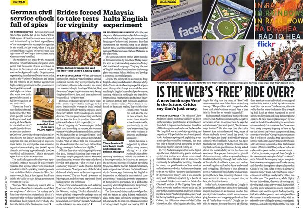 Article Preview: IS THE WEB'S 'FREE' RIDE OVER?, JULY 27th 2009 2009 | Maclean's